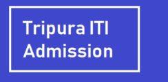 Tripura ITI Admission